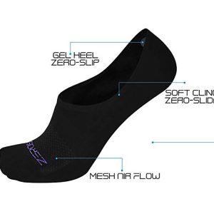 ZeroSock Bamboo Ankle Wraith Hidden Ankle Sock With Mesh Ventilation, Anti-Tear Double Thread Bottoms (Women's 4 Pairs Per Box)